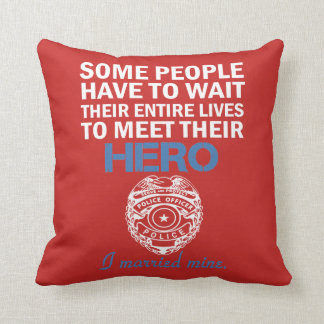 Police Officer's Wife Throw Pillow