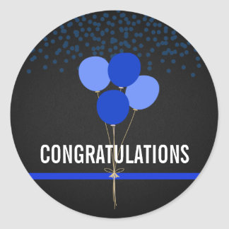 Police Party Themed Congratulations Classic Round Sticker