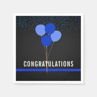 Police Party Themed Congratulations Napkin