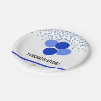 Police Party Themed Congratulations White Paper Plate