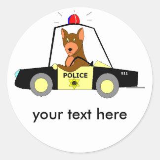 Police Patrol Dog Classic Round Sticker