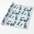 Police pattern wrapping paper