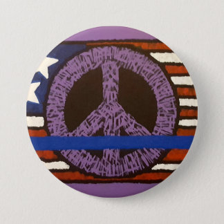 Police Peace 3 Inch Round Button