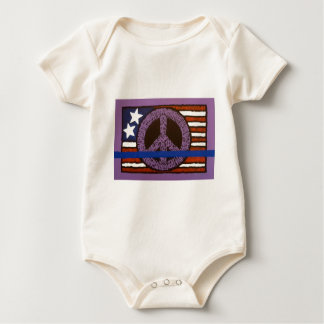 Police Peace Sign. Baby Bodysuit