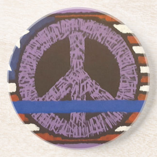 Police Peace Sign. Coaster
