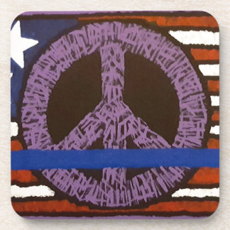 Police Peace Sign. Drink Coasters