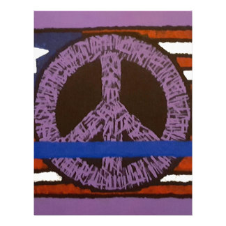 Police Peace Sign. Letterhead
