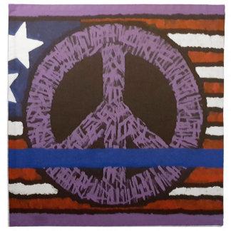 Police Peace Sign. Napkin