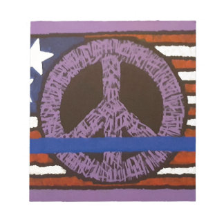 Police Peace Sign. Notepad