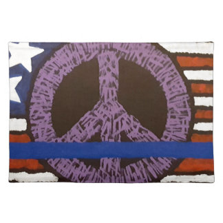 Police Peace Sign. Place Mat