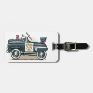 Police Pedal Car Cop Car Luggage Tag