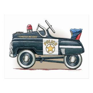 Police Pedal Car Cop Car  Postcard