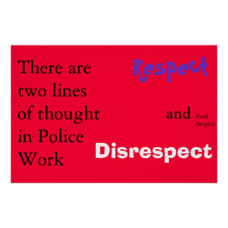 police philosophy poster