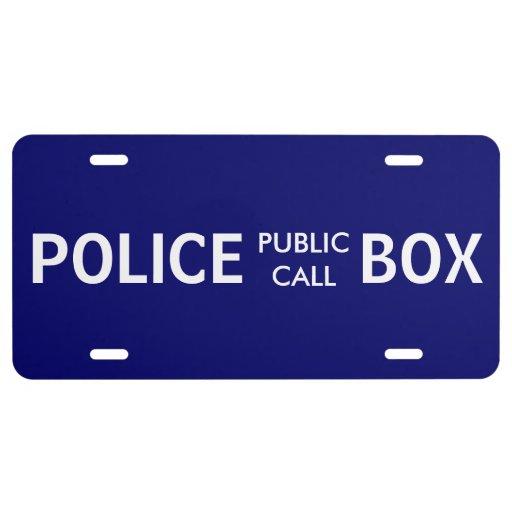 Police Phone Box Public Call License Plate
