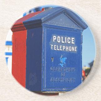 Police Phone- vertical Drink Coaster