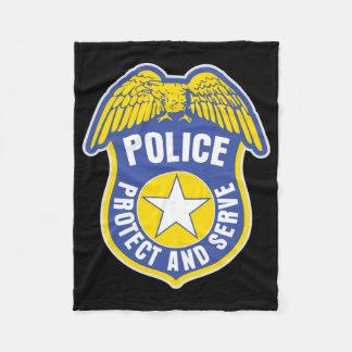 Police Protect and Serve Badge Fleece Blanket