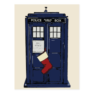 Police Public Call Box Christmas Postcard
