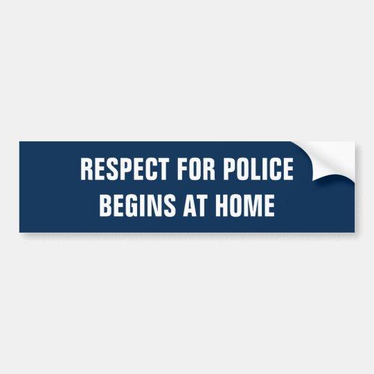 Police Respect Bumper Sticker
