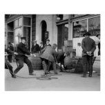 Police Seizing Bootleg Liquor, 1923 Poster