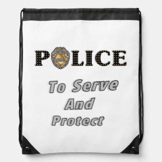 Police Serve and Protect Cinch Bag