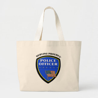 Police Serving Proudly Jumbo Tote Bag