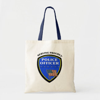 Police Serving Proudly Budget Tote Bag