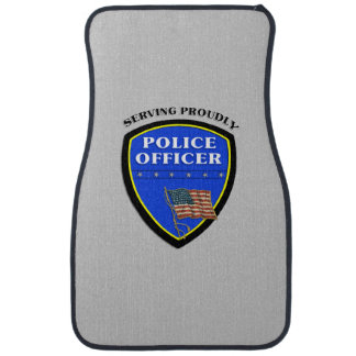 Police Serving Proudly Car Mat