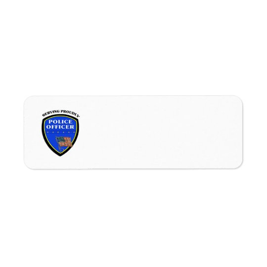 Police Serving Proudly Return Address Label