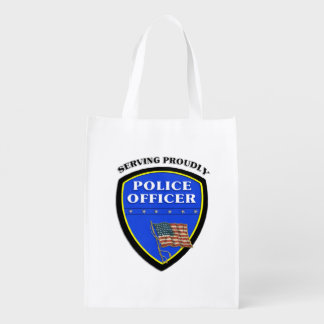 Police Serving Proudly Market Totes