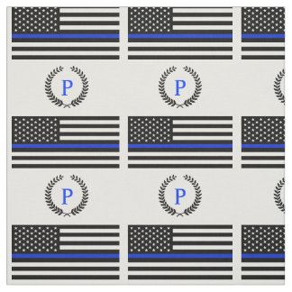 Police Style American Flag Custom Monogram Fabric