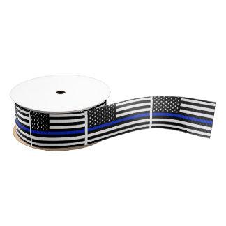 Police Style American Flag Grosgrain Ribbon