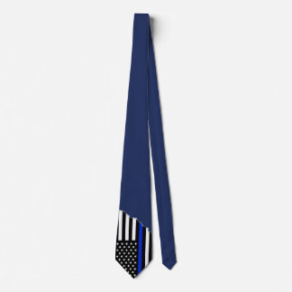 Police Style Flag Oxford Blue | Torn Out Look Tie