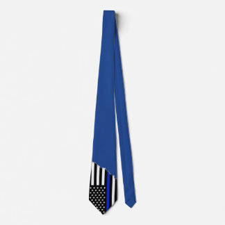 Police Style Flag Persian Blue | Torn Out Look Tie
