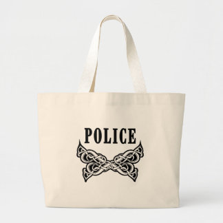 Police Tattoo Canvas Bag