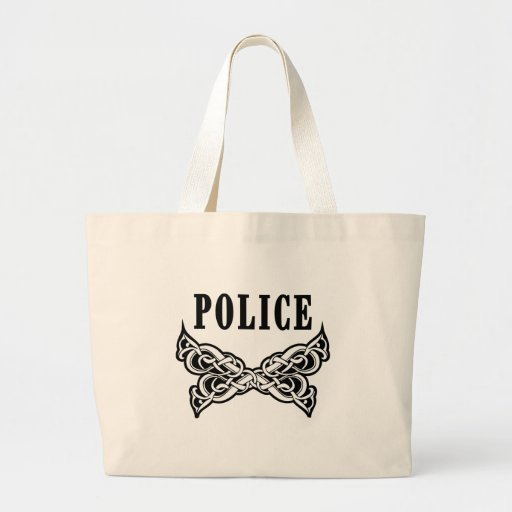 Police Tattoo Canvas Bag