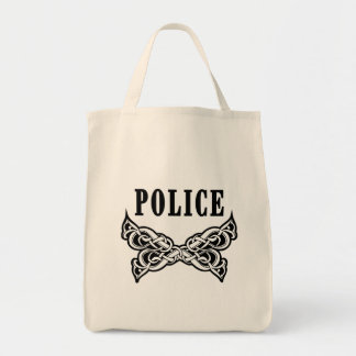 Police Tattoo Canvas Bags