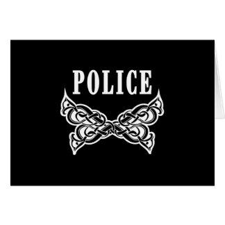 Police Tattoo Card