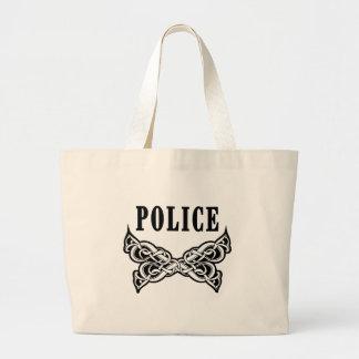 Police Tattoo Jumbo Tote Bag