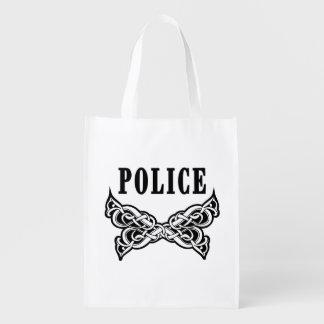 Police Tattoo Reusable Grocery Bag
