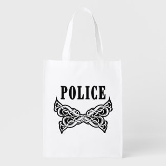 Police Tattoo Grocery Bags