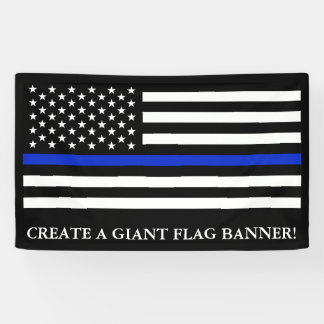 Police Themed American flag Banner
