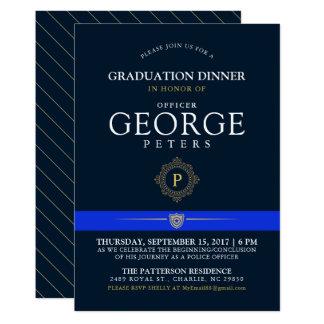 Police Themed Event | Dinner Monogram Navy Invite