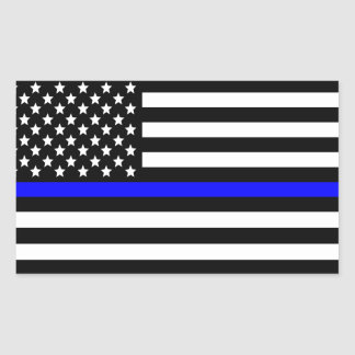Police Thin Blue Line American Flag Sticker