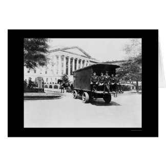 Police Treasury Building in Washington, DC 1927 Card