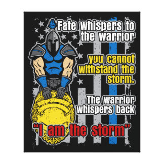 Police Trojan Warrior I Am The Storm Canvas Print