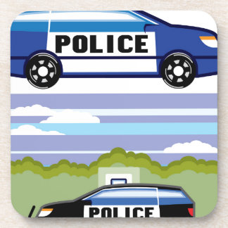 Police vehicle coasters