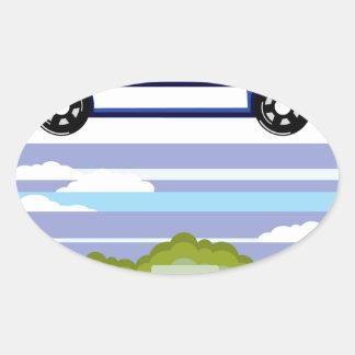 Police vehicle oval sticker