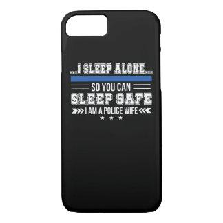 Police Wife Sleep Alone You Can Sleep Safe Case-Mate iPhone Case