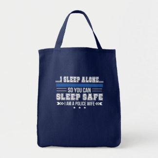 Police Wife Sleep Alone You Can Sleep Safe Tote Bag