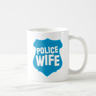 Police WIFE with officers badge shield Coffee Mugs